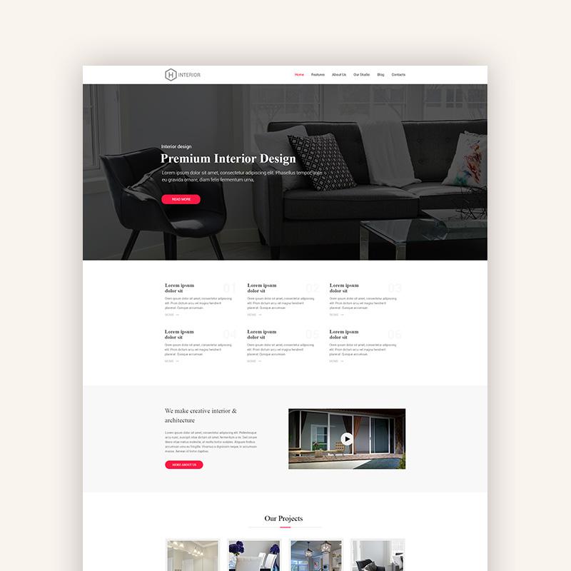 Interior Design - PSD Template