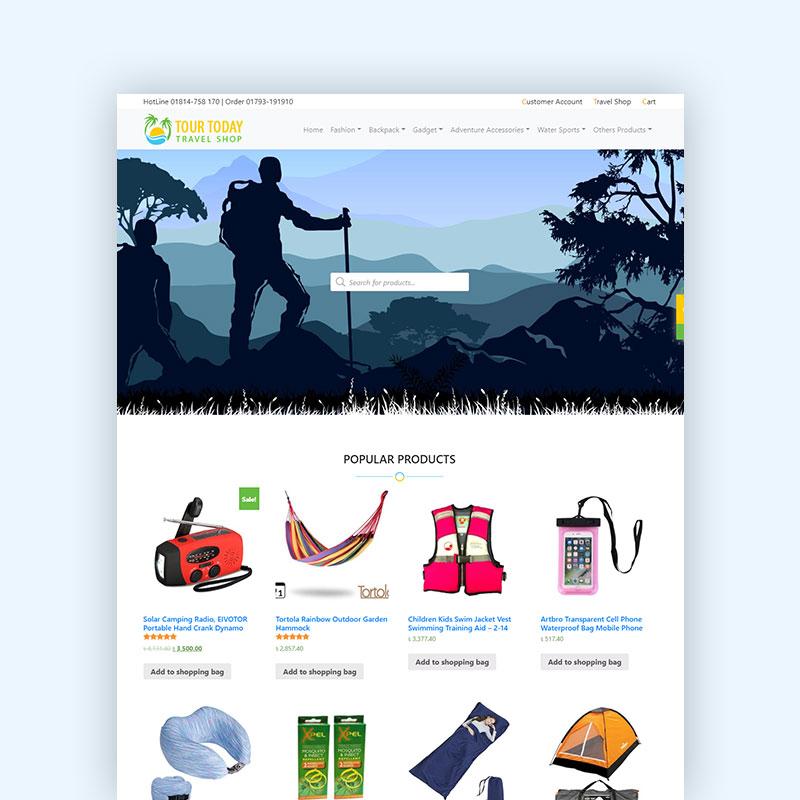 TourTodayBD Taravel Shop - Web Design & Development Project