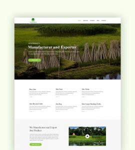 Jute Products - Web Design Project